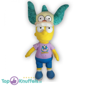 Pluche The Simpsons - Bart Simpson met pet Knuffel