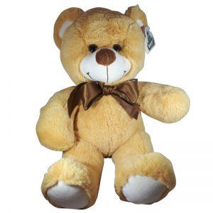 Teddybeer Met Strik Lichtbruin 30cm