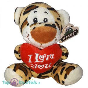 Panter met I Love You Hart Knuffel 15 cm