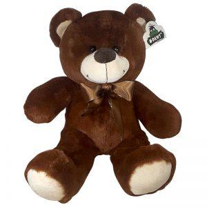Teddybeer Met Strik Donkerbruin 38cm