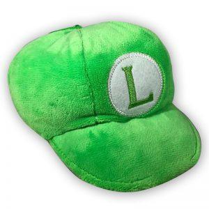 Pluche Mario Bros Luigi Hoedje Knuffel 18 cm