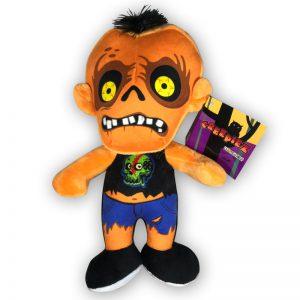 Pluche Creepiez Cartoon Zombie Oranje Knuffel 30 cm
