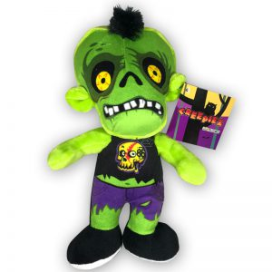 Pluche Creepiez Cartoon Zombie Groen Knuffel 30 cm