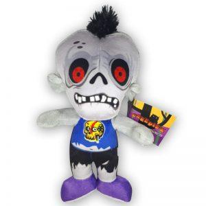 Pluche Creepiez Cartoon Zombie Wit/Blauw Knuffel 30 cm