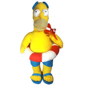 Pluche The Simpsons - Homer Simpson Zwemband Knuffel 45 cm