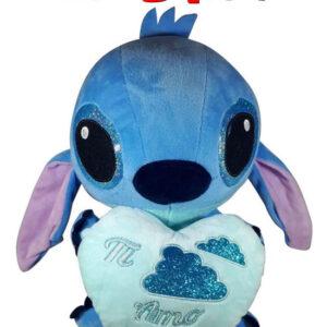 Disney Stitch met blauw hart ''Ti Amo'' Pluche Knuffel 30 cm
