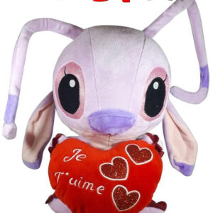 Disney Angel Lilo en Stitch met rood hart ''Je T'uime'' pluche knuffel 30 cm