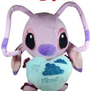 Disney Angel Lilo en Stitch met blauw hart ''Ti Amo'' Pluche Knuffel 30 cm