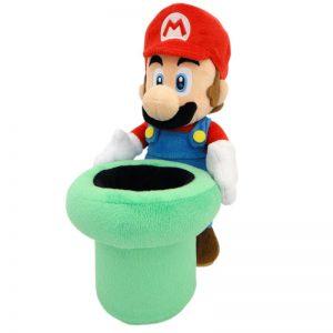 Mario Bros Pluche Mario Warp Pipe Knuffel 25cm