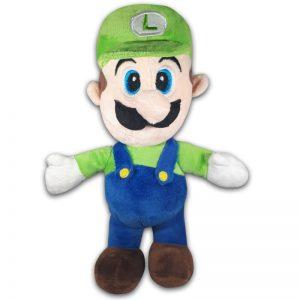 Pluche Mario Bros Knuffel Luigi 26 cm