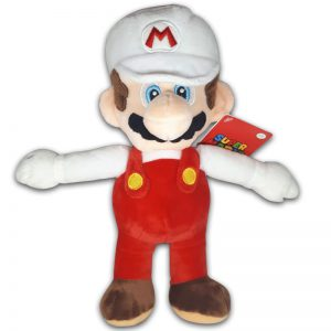Pluche Mario Bros Knuffel Mario Wit 30 cm