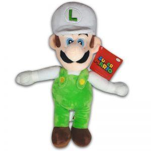 Pluche Mario Bros Knuffel Luigi Wit 30 cm