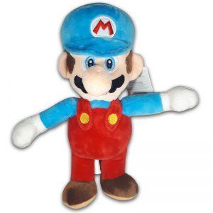 Pluche Mario Bros Knuffel Mario Blauw 30 cm