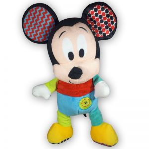 Pluche Disney Baby Mickey Mouse Rood/Blauw 30 cm