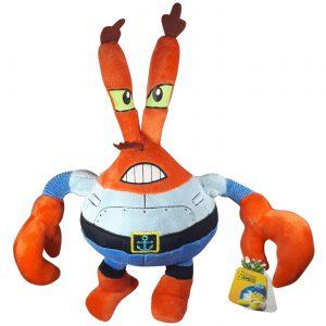 Pluche The Spongebob Squarepants Movie - Meneer Krabs Knuffel 35cm