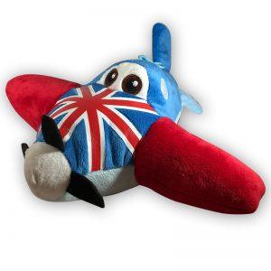 Pluche Disney Planes Verenigd Koninkrijk Vliegtuig Knuffel 28 cm