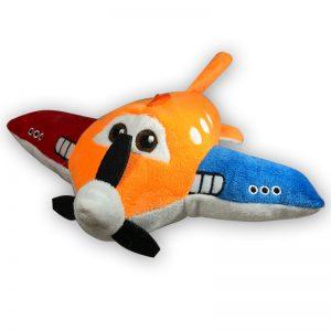 Pluche Disney Planes Rood/Oranje/Blauw Vliegtuig Knuffel 28 cm