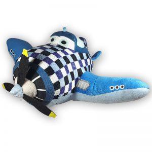 Pluche Disney Planes Blokjes Vliegtuig Knuffel 28 cm