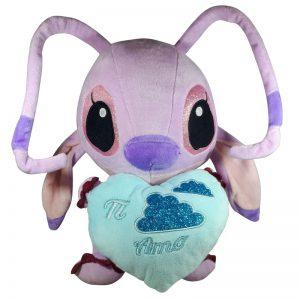 Disney Angel met hart Pluche Knuffel Blauw 30cm