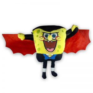 SpongeBob SquarePants Pluche Knuffel Vleermuis Rood 23cm