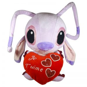 Disney Angel met hart Pluche Knuffel Rood 30cm