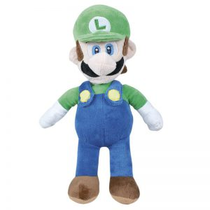 Pluche Mario Bros Knuffel Luigi 30 cm