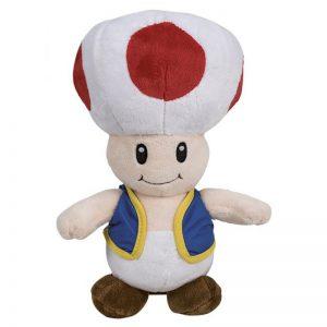 Pluche Mario Bros Knuffel Toad 30 cm