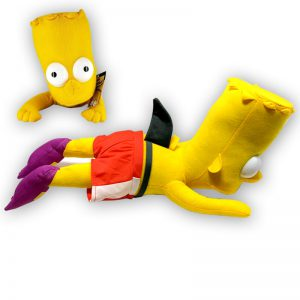 Pluche The Simpsons - Bart Simpson Zwemmen Knuffel 45 cm