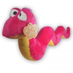 Pluche Slang Roze/Geel Knuffel 35 cm