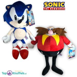 Sonic The Hedgehog + Dr. Eggman Pluche Knuffel Set 30 cm