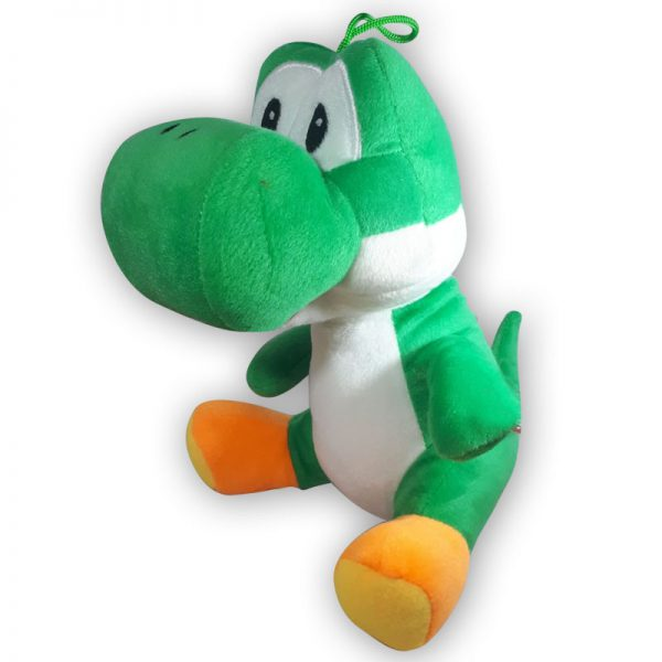 Pluche Mario Bros Yoshi Donkergroen Knuffel 30 cm
