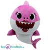 Baby Mama Shark Roze Pluche Knuffel 30 cm