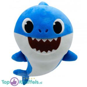 Baby Papa Shark Blauw Pluche Knuffel 30 cm