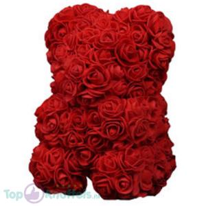 Rode Rozen Beer pluche knuffel Valentijn Valentijnsdag Valentijnscadeau