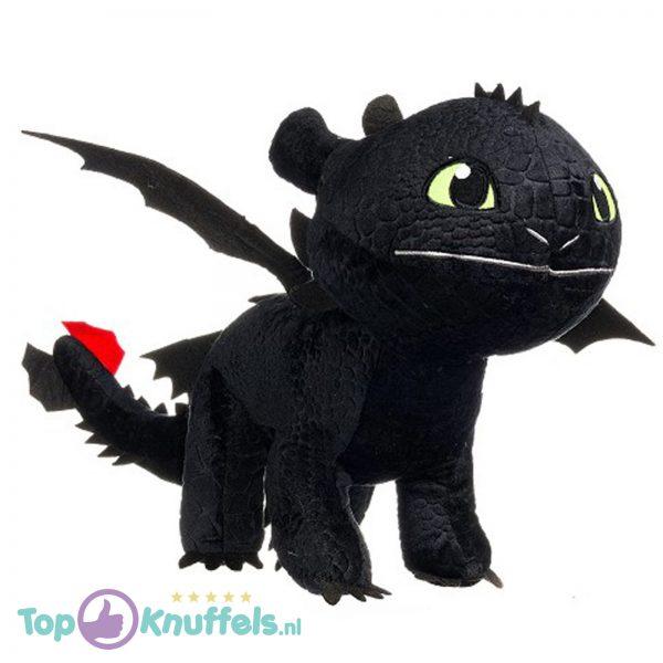 Hoe tem je een draak / How to train your dragon Toothless Draken Pluche Knuffel 30 cm