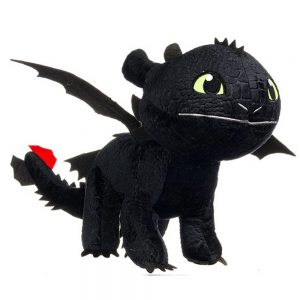 Hoe tem je een draak / How to train your dragon Toothless Draken Pluche Knuffel 30 cm