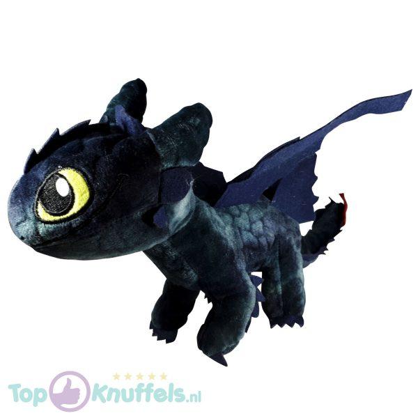 Hoe tem je een draak / How to train your dragon Toothless Draken Pluche Knuffel 30 cm (Blauw)