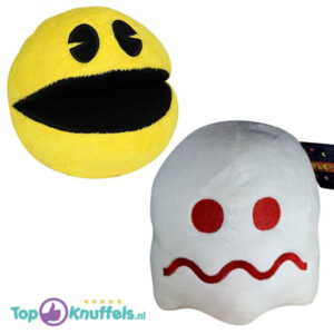 Pac-Man + Spook Wit Pluche Knuffel 25 cm