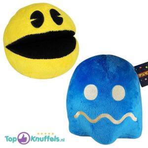 Pac-Man + Spook Donkerblauw Pluche Knuffel 25 cm