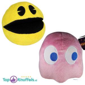 Pac-Man + Pinky Roze Pluche Knuffel 25 cm