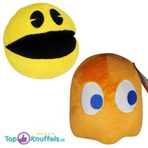 Pac-Man + Clyde Oranje Pluche Knuffel 25 cm