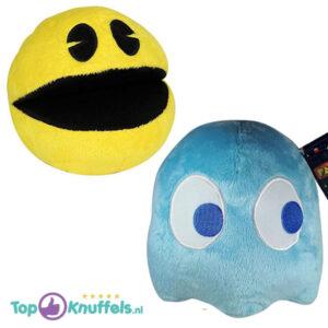 Pac-Man + Inky Lichtblauw Pluche Knuffel 25 cm