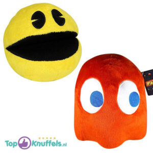 Pac-Man + Blinky Rood Pluche Knuffel 25 cm