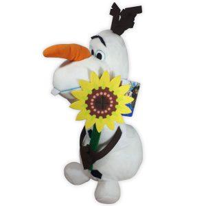 Disney Frozen Olaf Knuffel met Bloem 30 cm