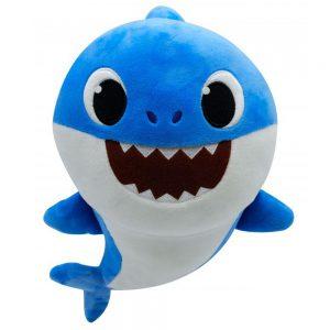 Baby Papa Shark Blauw Pluche Knuffel 30 cm | Originele Baby Father Shark Pinkfong Plush | Daddy Shark