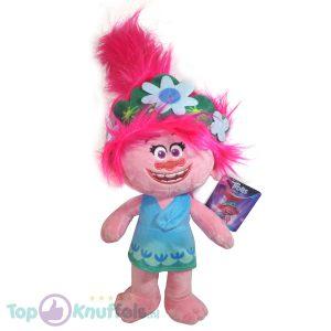 Poppy Trolls Pluche Knuffel 42 cm | Trolls Wereldtour | Trolls World tour | Trols Plush | Poppie Blauw Jurkje