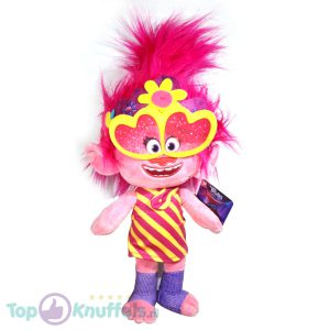 Poppy Trolls Pluche Knuffel 42 cm | Trolls Wereldtour | Trolls World tour | Trols Plush | Poppie Gele Zonnebril