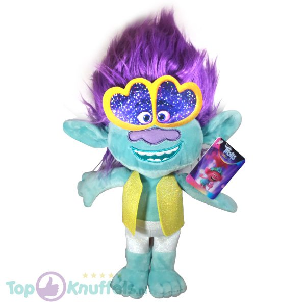 Branch Trolls Pluche Knuffel 42 cm | Trolls Wereldtour | Trolls World tour | Trols Plush | Poppy & Friends