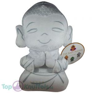 Boeddha Pluche Knuffel Wit 30 cm