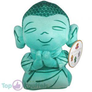 Boeddha Pluche Knuffel Turquoise 30 cm